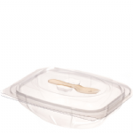 1000g Hinged Salad Pack With Fork
